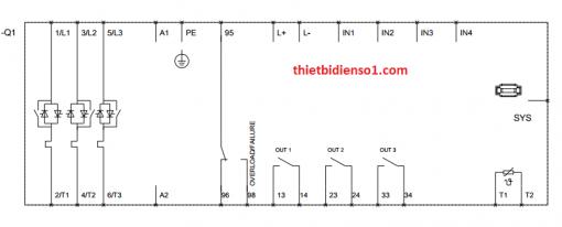 sơ đồ chân khởi động mềm 3RW4436-6BC44